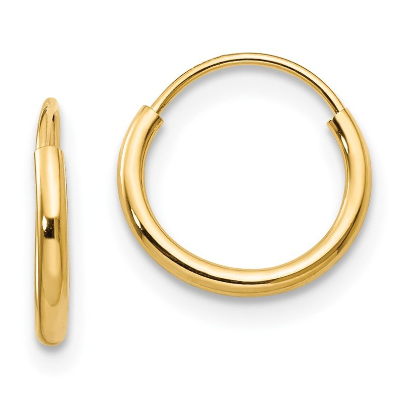 Lester Martin Online Collection 14k Madi K Endless Hoop Earrings