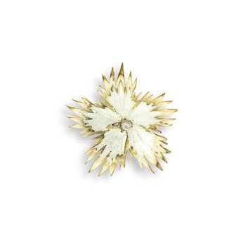 White Rock Flower Pendant.18K -Diamond