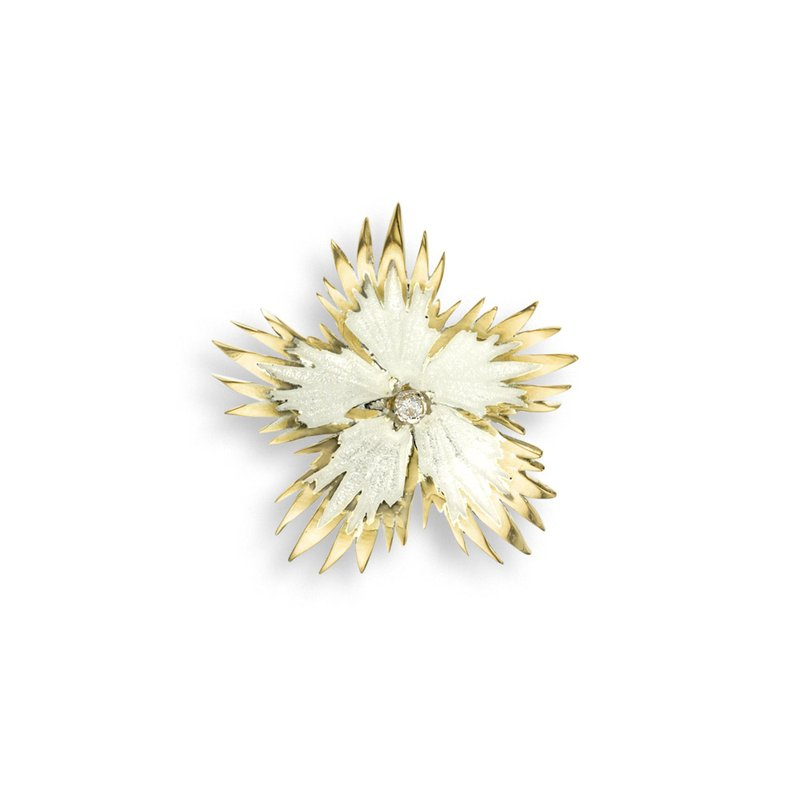 Nicole Barr Designs White Rock Flower Pendant.18K -Diamond