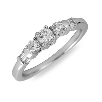 14K WG Diamond PPF Engagement Ring