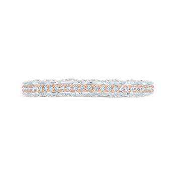 18K Two-Tone Diamond Wedding Band