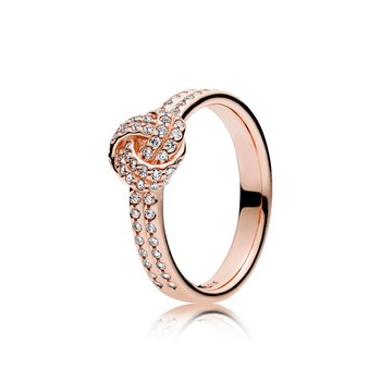 Sparkling Love Knot, Pandora Rose™ Clear Cz