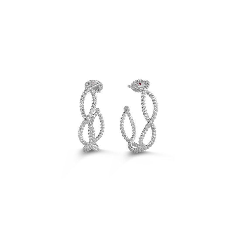 Roberto Coin Hoop Earrings &Ndash; 18K White Gold