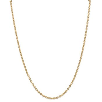 14k 3.2mm Round Open Link Cable Chain
