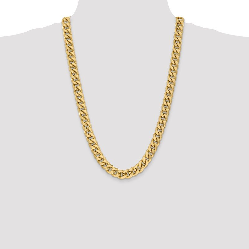 Quality Gold 14k 11mm Semi-Solid Miami Cuban Chain