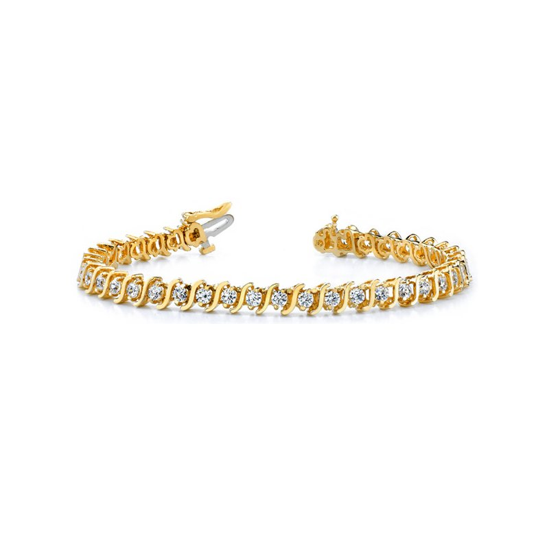 S. Kashi  & Sons Yellow Gold Diamond Tennis Bracelet