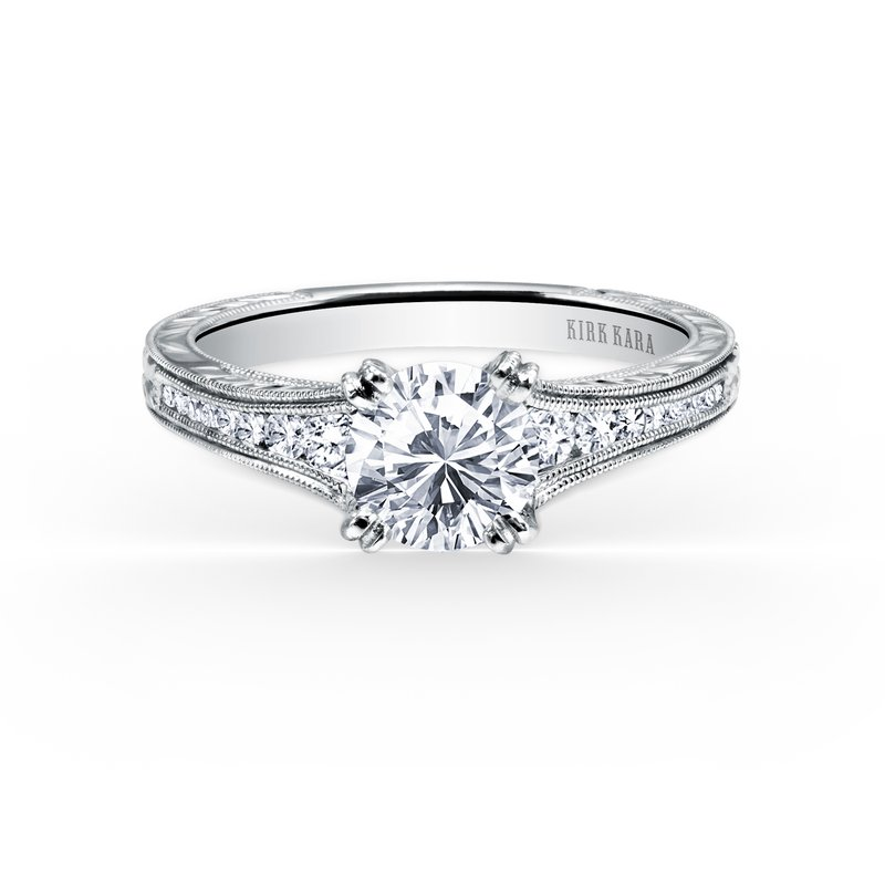 Milgrain Timeless Diamond Engagement Ring