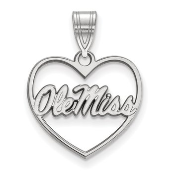 Sterling Silver University of Mississippi NCAA Pendant