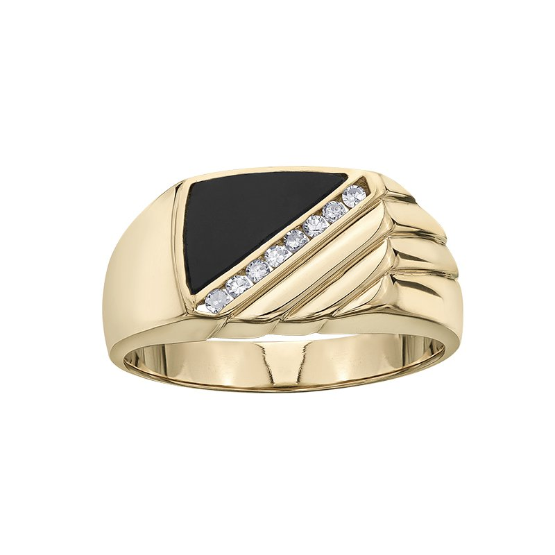 Diamond Wishes Onyx Ladies Ring