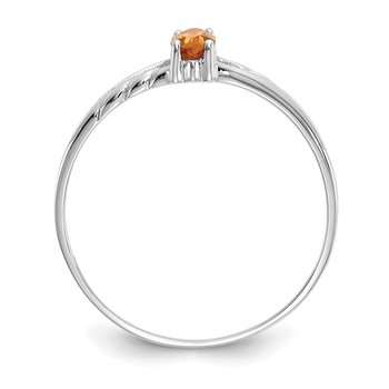 14k White Gold Citrine Birthstone Ring