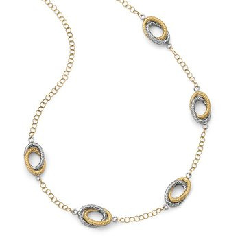 Leslie's 14K Fancy Two-Tone Necklace