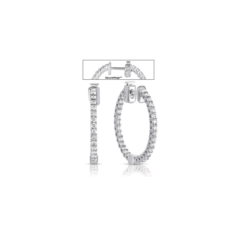 S. Kashi  & Sons 1 inch Securehinge Hoop Earring