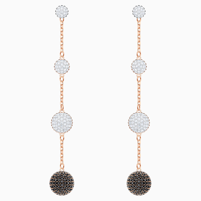 Swarovski Lollypop Pierced Earrings, Multi-colored, Rose-gold tone plated