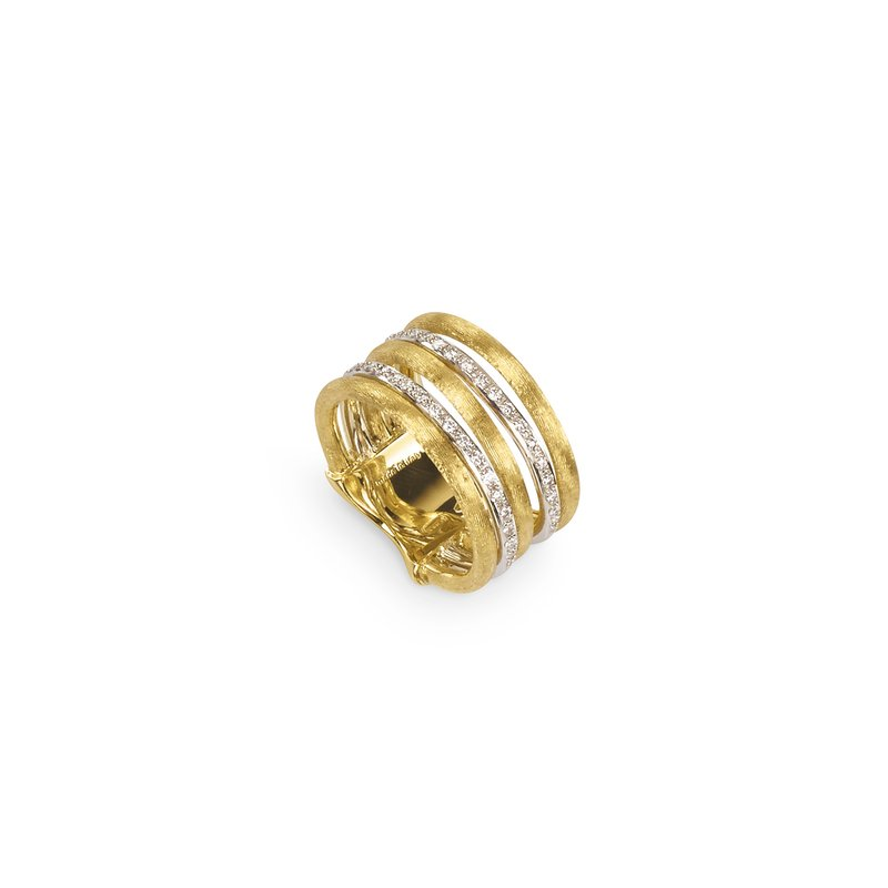 Marco Bicego Jaipur Link Gold & Diamond Five Row Ring