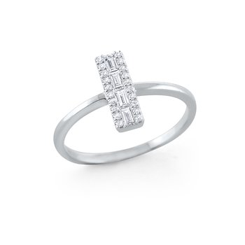 14K Rectangular Diamond Mosaic Ring