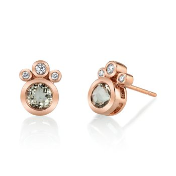 MARS 27260 Stud Earrings, 0.13 Dia, 0.87 Green Am.