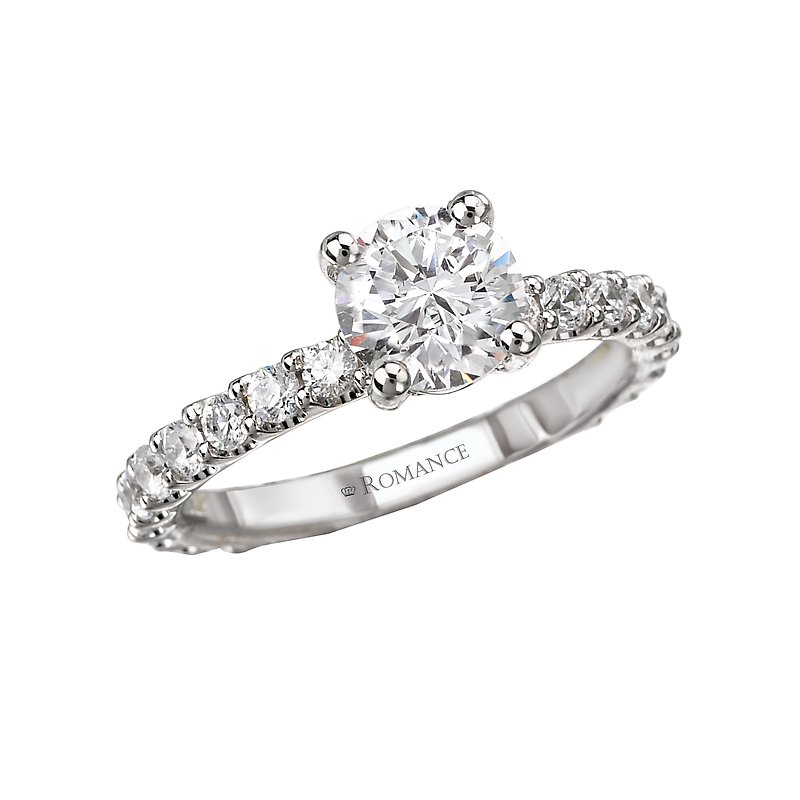 Romance Eternity Semi-Mount Diamond Ring