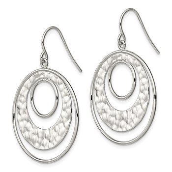 Sterling Silver Circle Shepherd Hook Earrings