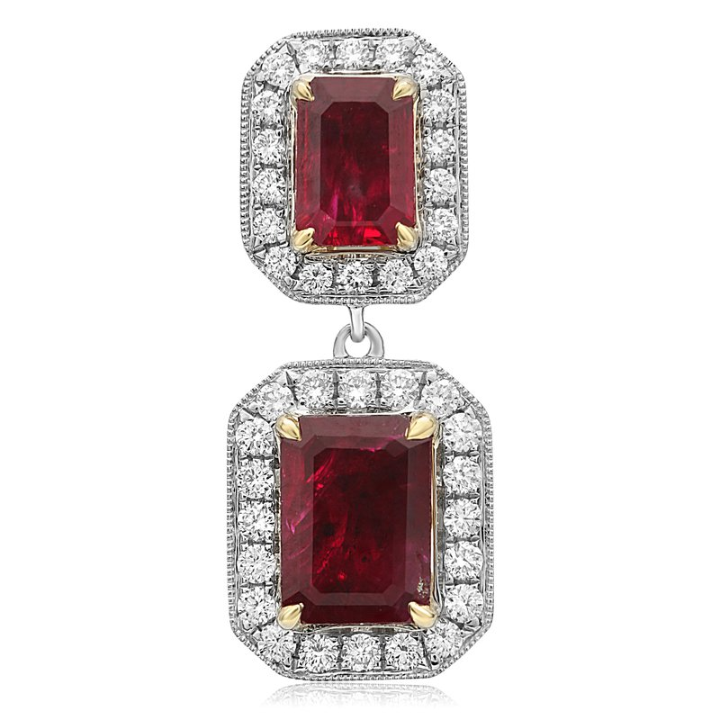 Roman & Jules Ruby & Diamond Dangle Earrings