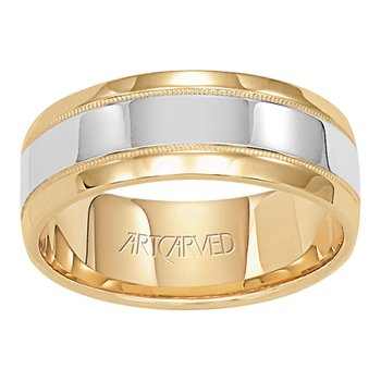 "14K Two-Tone Gold ""Covenant"" Comfort Fit Wedding Band"
