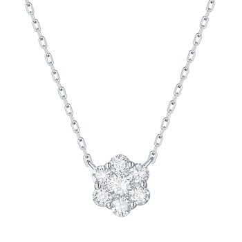 Smiling Rocks 0.49Ct G-H/VS1 Lab Grown Diamond Cluster Necklace