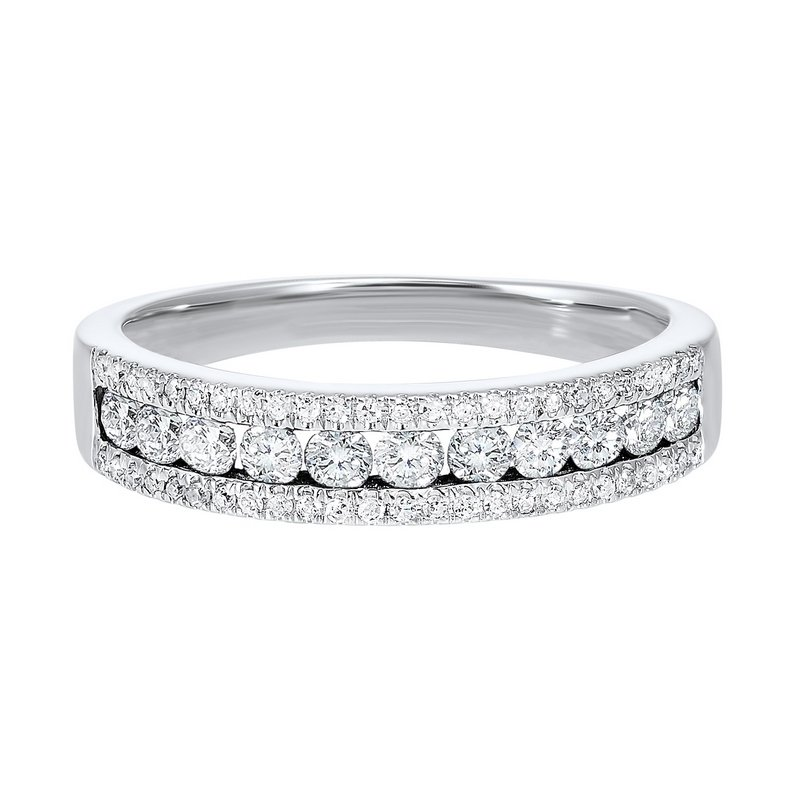 Calvin Broyles Triple Row Diamond Stackable Band in 14k White Gold (1/2ctw)