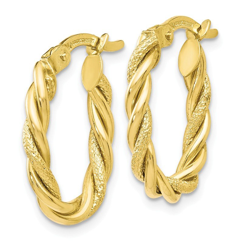 Leslie's Leslie's 10K Polished and Textured Gold Earrings