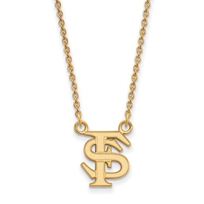 NCAA Gold-Plated Sterling Silver Florida State University NCAA Necklace