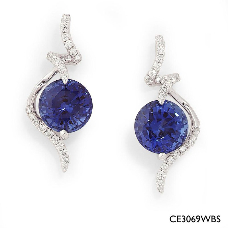 de388638e Bogart's Jewellers: Chatham Blue Sapphire Earrings-CE3069WBS