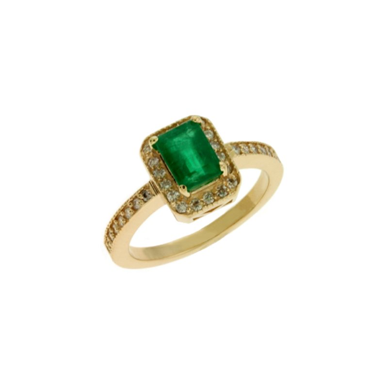 S. Kashi  & Sons Emerald & Diamond Ring