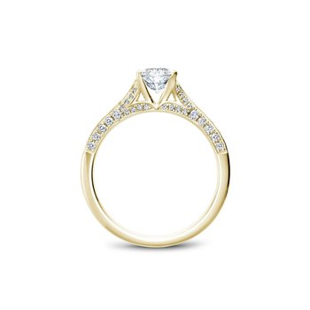 Oval Side-Stone Solitaire Engagement Ring