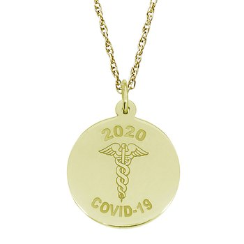 Covid-19 Caduceus Necklace Set