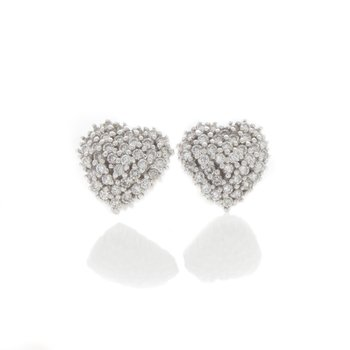 PAVE HEART EARRINGS