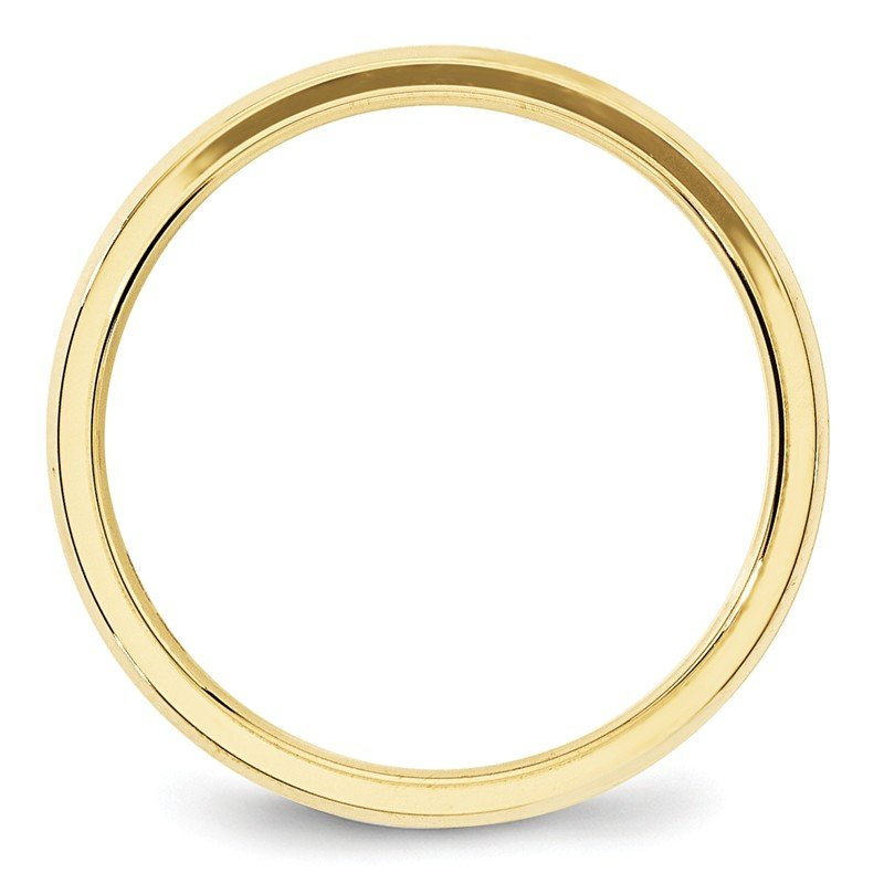 Quality Gold 10KY 4mm Bevel Edge Comfort Fit Band Size 10
