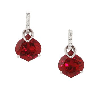 Ruby Earrings-CE3072WRU