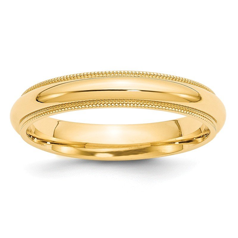 Quality Gold 14k 4mm Milgrain Comfort Wedding Band