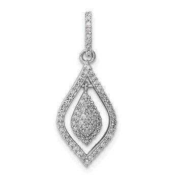 Sterling Silver Rhodium Diam. Fashion Pendant
