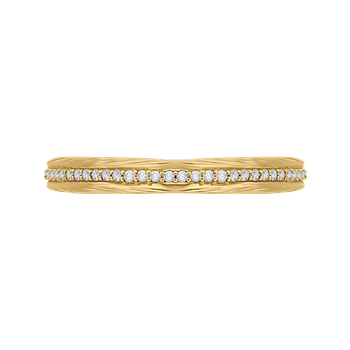 Round Diamond Wedding Band In 18K Yellow Gold