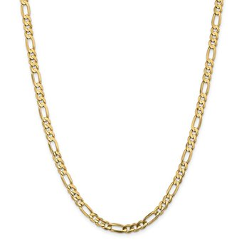 14k 5.5mm Concave Open Figaro Chain