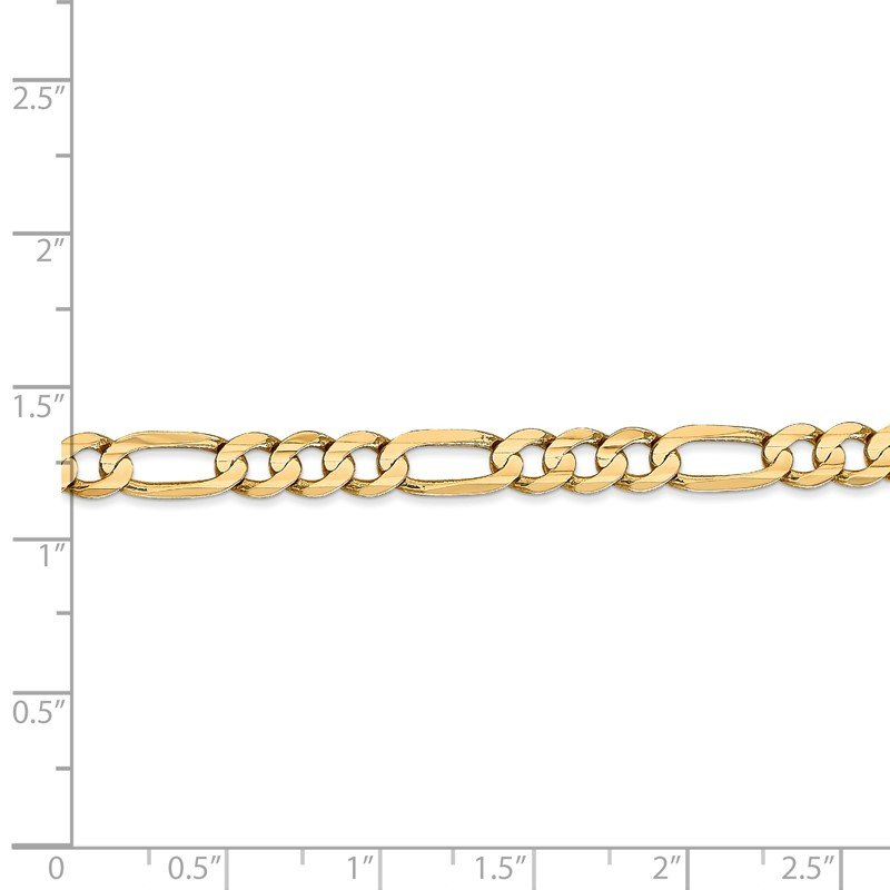 Quality Gold 14k 5.5mm Concave Open Figaro Chain