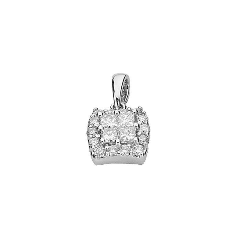 S. Kashi  & Sons White Gold Diamond Penadnt