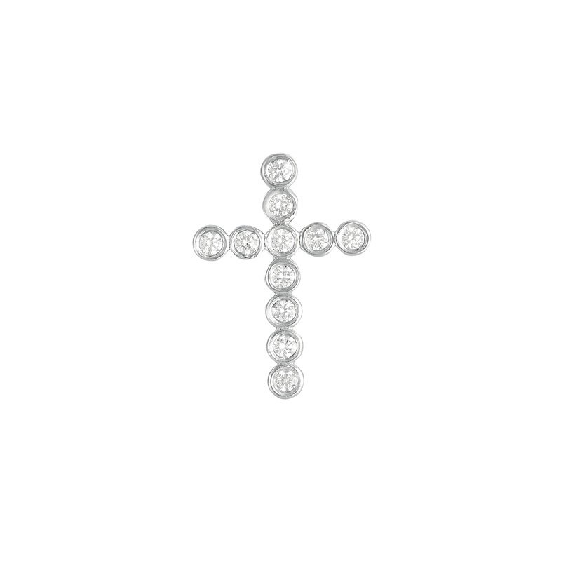 Briana Diamond Cross Pendant 26mm