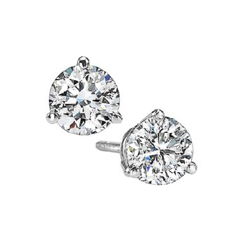Martini Diamond Stud Earrings in 14K White Gold (5/8 ct. tw.) I1 - G/H