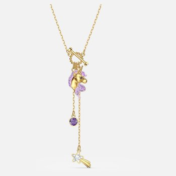 Out of this World Unicorn Y Necklace, Purple, Gold-tone plated