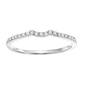 14K Diamond Band 1/7 ctw