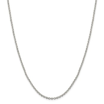 Sterling Silver 2.5mm Diamond-cut Cable Chain