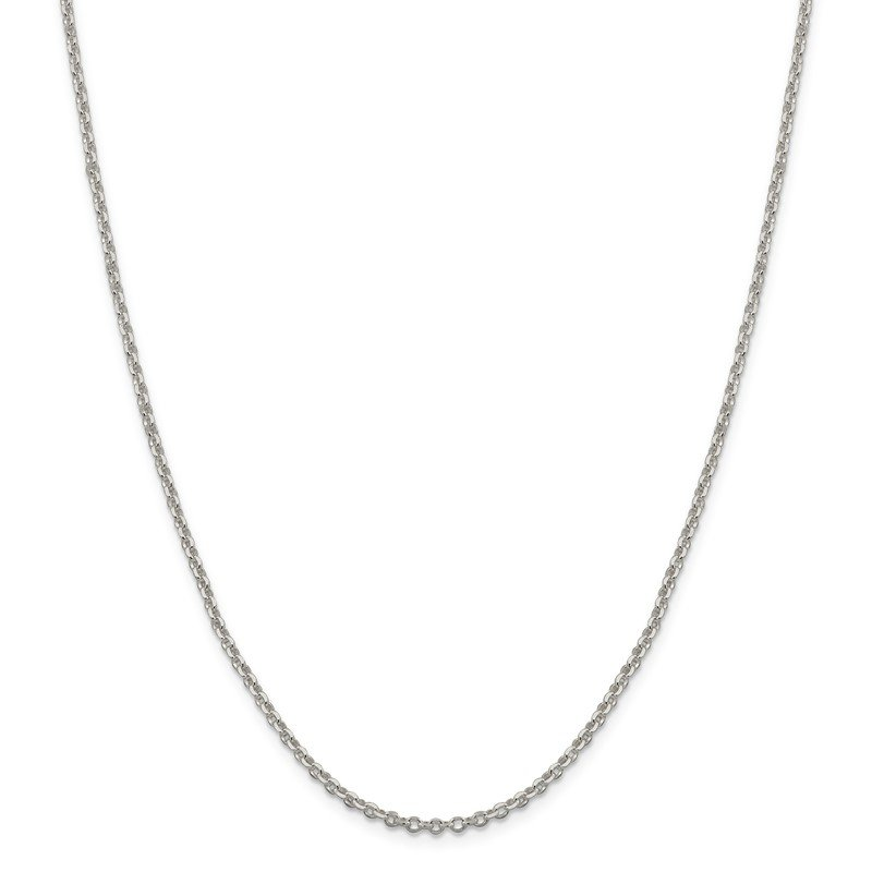 Quality Gold Sterling Silver 2.5mm Diamond-cut Cable Chain