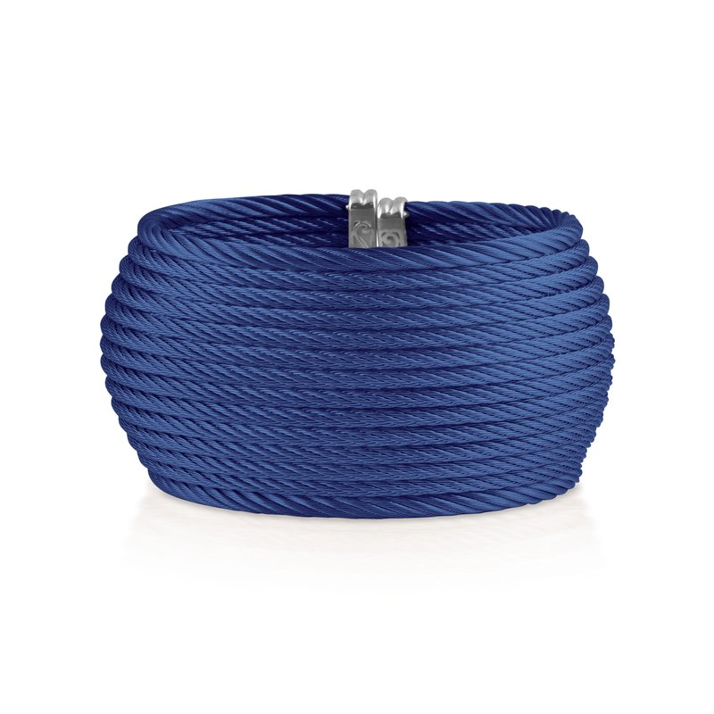 ALOR Blueberry Cable Oversized Cuff with 18kt Yellow Gold