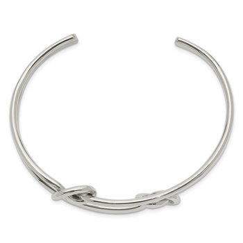 Sterling Silver Knot Bangle