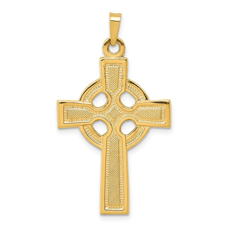 Quality Gold 14k Celtic Cross Charm